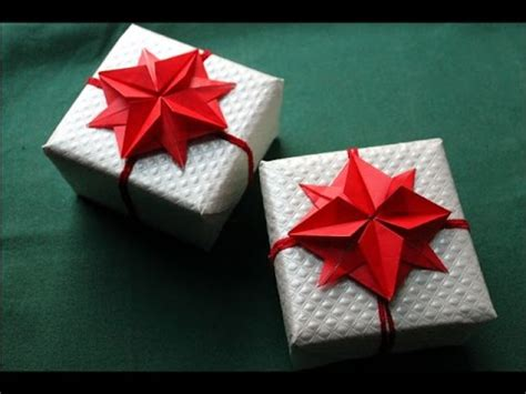 Origami Present Wrapping - origami flower gift wrapping and