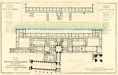 palace of westminster floor plan layout of hton court palace in charles ii s time