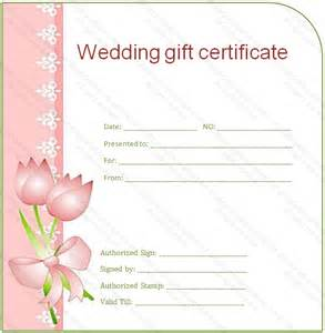 side border wedding gift certificate template
