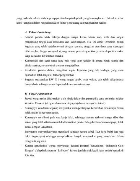 format laporan evaluasi kegiatan contoh laporan pertanggungjawaban kegiatan kerja bakti