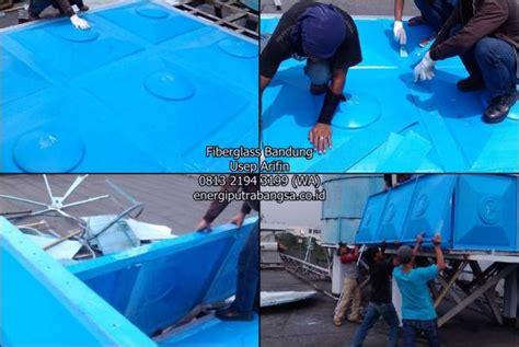 Produksi Tangki Penungan Air Tangki Air Fiberglass tangki fiber air model panel kotak harga jual pabrik di bandung