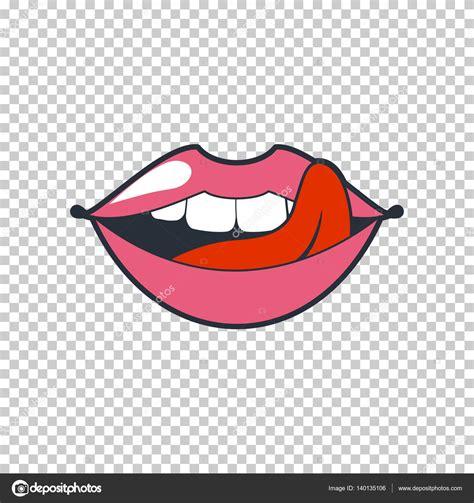imagenes sin fondo que formato es labios extravagantes parche de vector etiqueta engomada