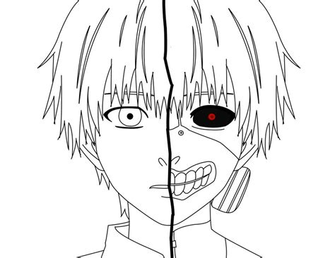 Drawing Outline by Kaneki Outline By Picklesjd On Deviantart