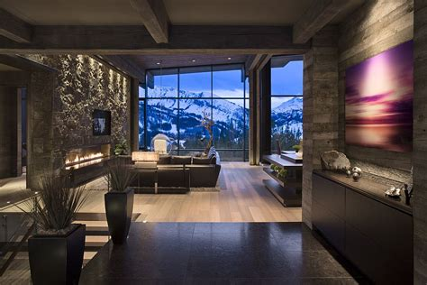 modern mountain cabin contemporary comfort beautiful interiors modern cabins private luxury ski resort in montana by len cotsovolos