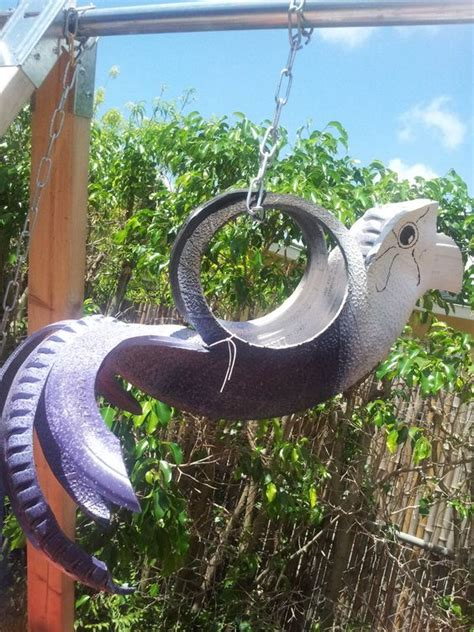 Tire Bird Planter by Recycled Tire Planter Parrot Www Cooltireswings