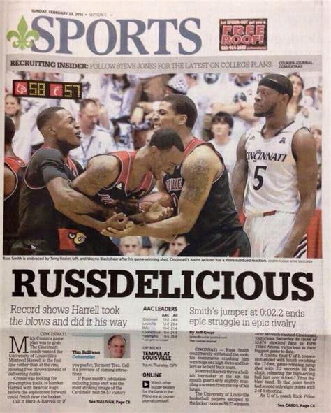Cincinnati Newspaper Sports Section by Louisville 58 Cincinnati 57 An Afternoon To Remember