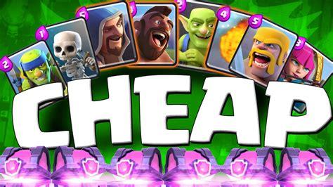 cheap deck clash royale strategies