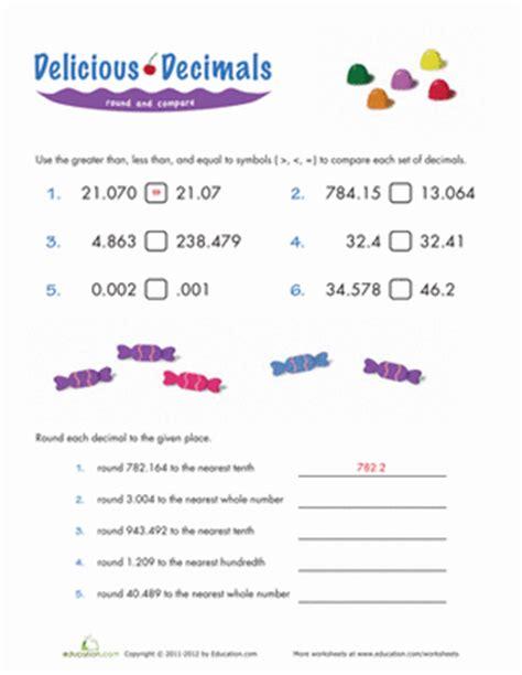 Comparing Decimals Worksheet by Comparing Decimals Worksheet Education