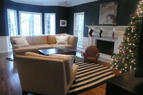 navy rug living room navy and white striped rug traditional living room