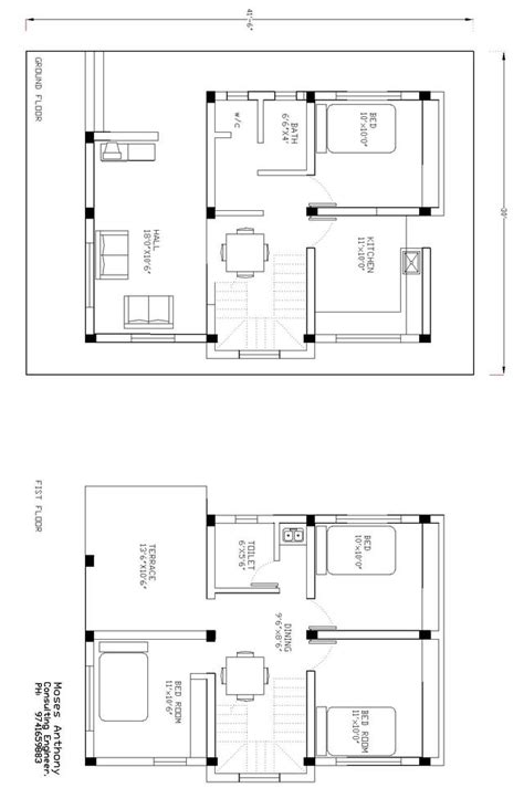 how to draw a house plan