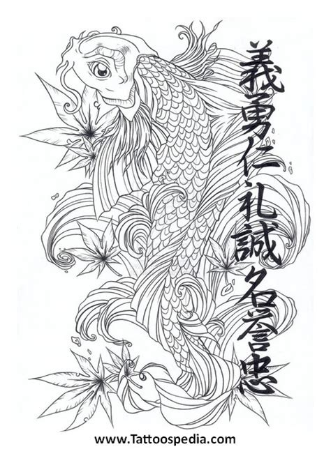 koi fish lotus flower tattoo designs 5