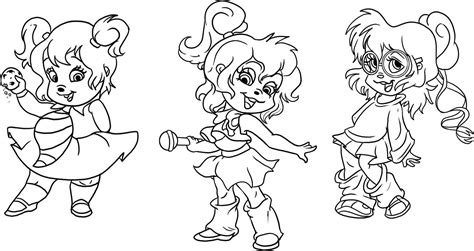 Chipettes Coloring Pages free printable chipettes coloring pages for