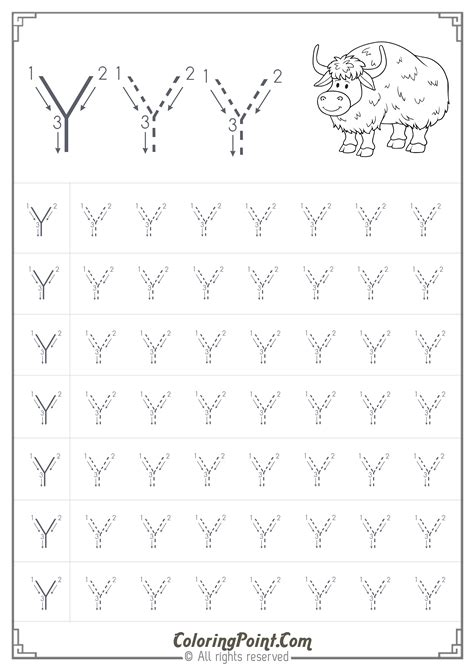 printable letter y worksheets for preschool free printable tracing letter y worksheets for preschool