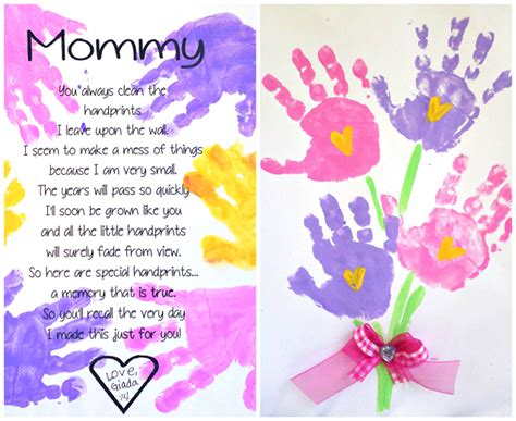 mothers day printable handprint mother s day poem crafty morning