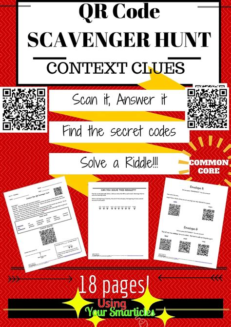 biography in context scavenger hunt your smarticles qr codes