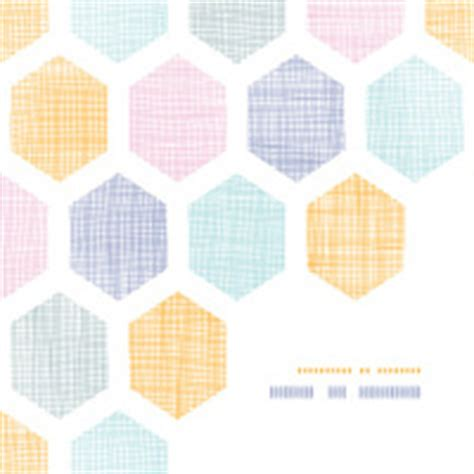 honeycomb pattern frame abstract colorful honeycomb fabric textured frame corner