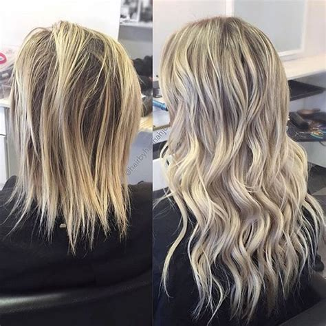 bombshell hair extension co hair salons before after bombshell extensions hand tied wefts hair