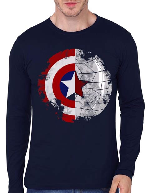 T Shirt Captain America Navy captain america navy blue sleeve t shirt swag shirts
