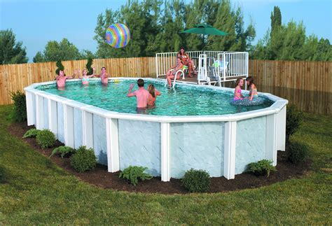 Backyard Swimming Pools Above Ground Idea For Above Ground Pool Landscaping Successful Decision For Your Garden Pool
