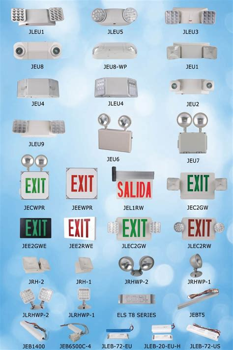 exit sign light combo jlec2gw exit sign w heads green letter combo