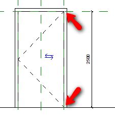 door swing symbol creating revit family door cadnotes