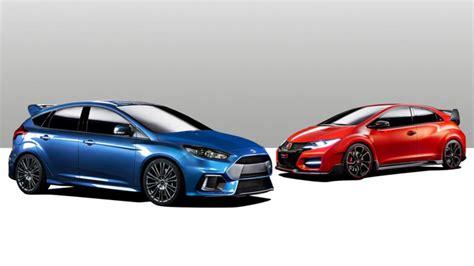 honda focus new ford focus rs vs honda civic type r
