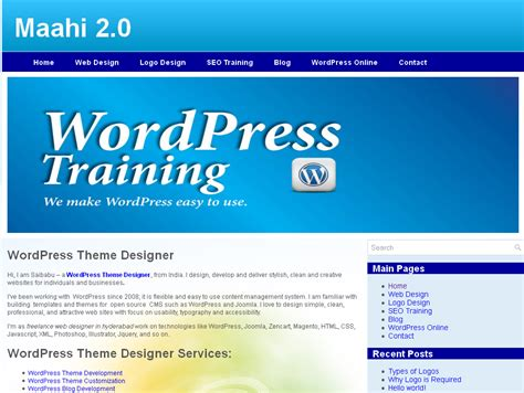 wordpress theme development training wordpress training