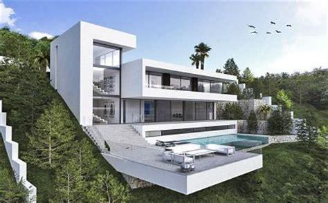 wandlen woonkamer huizen huis te koop spanje moderne villa costa blanca en