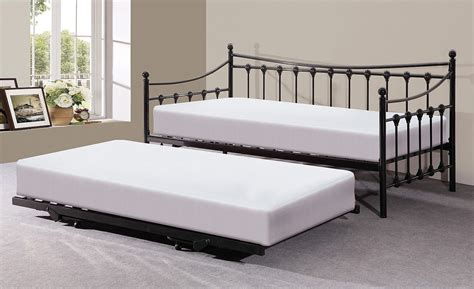 pull out trundle bed memphis black metal guest day bed and pull out trundle bed