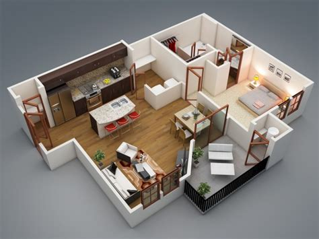 plan 3d chambre plan 3d appartement 1 chambre 03