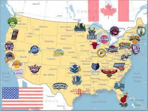 us map of nba cities nba and maps on