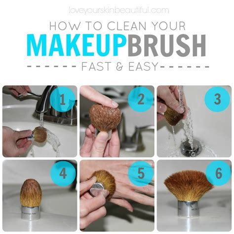 how to clean your makeup brush fast easy