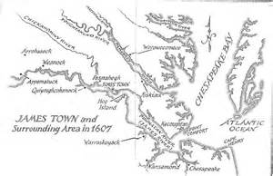 map of jamestown blood on the river novel study