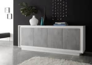 four door sideboard matt white grey sideboards