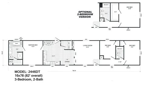 2 bedroom 2 bath floor plans 3 bedroom 2 bath single wide mobile home floor plans