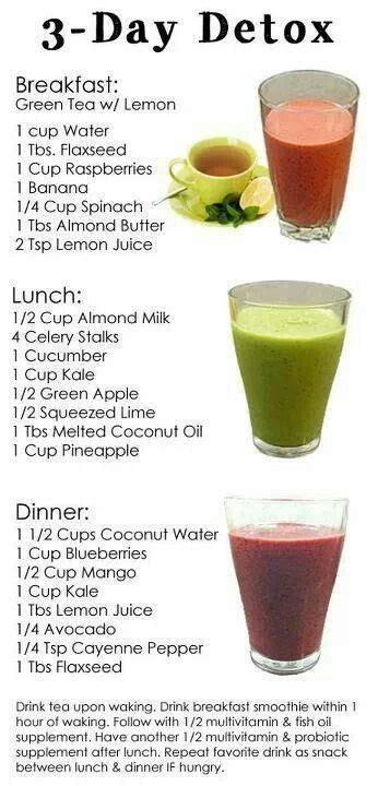 3 Day Detox by 3 Day Detox Smoothie I Smoothies