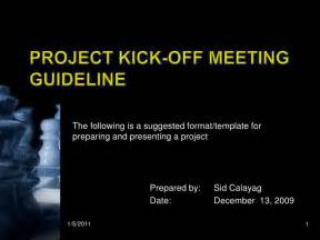project kickoff meeting presentation template kick meeting presentation