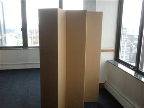 5 1 2 ft tall durable cardboard diy room divider