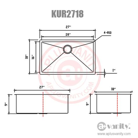 how to measure kitchen sink special price 27 quot r10 small radius kitchen sink plus accessories 16 gage kur2718 ebay