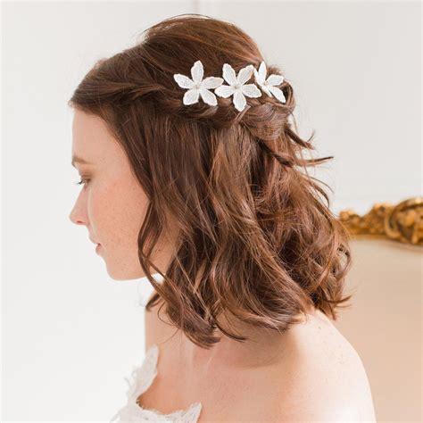 Bridal Flower Hair Pin wedding hair pins bridal hair pins britten weddings uk
