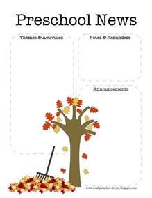 october newsletter template the crafty fall preschool newsletter template