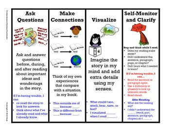printable bookmarks reading strategies reading comprehension bookmarks freebie 3h strategy