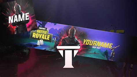 Free New Fortnite Banner Avatar Template 2018 Photoshop Cs6 Cc Youtube Fortnite Banner Template