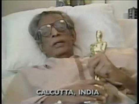 film india oscar satyajit ray receives oscar youtube