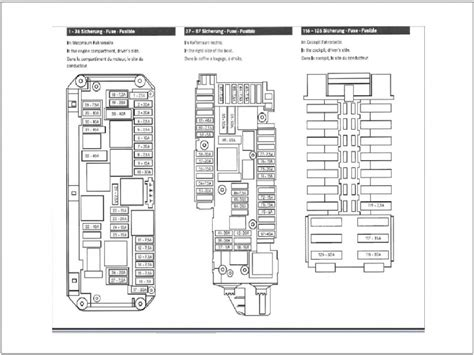 2006 mercedes ml350 fuse box diagram wiring diagrams
