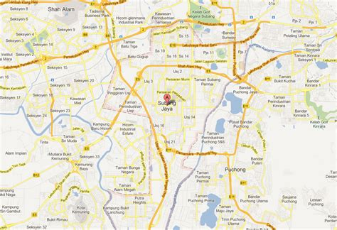 map usj subang jaya subang jaya map and subang jaya satellite image