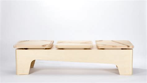 kinetic bench invisible bridging wooden kinetic bench on behance