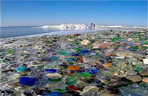 glass beach russia glass beach manmade wastage become beauty technology bux