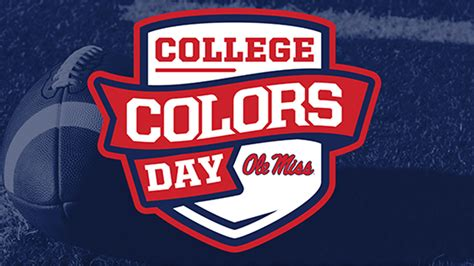 college colors college colors day ole miss news