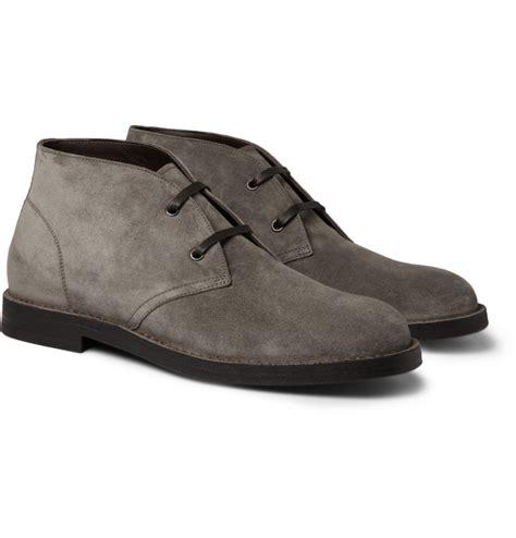 bottega veneta mens boots bottega veneta suede desert boots in gray for desert